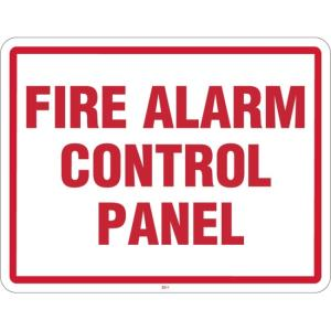 "SN-FIRE2 MAXWELL 11"" x 8.5"" Fire Panel Sign- ""FIRE ALARM CONTROL PANEL"" ************************* SPECIAL ORDER ITEM NO RETURNS OR SUBJECT TO RESTOCK FEE *************************"