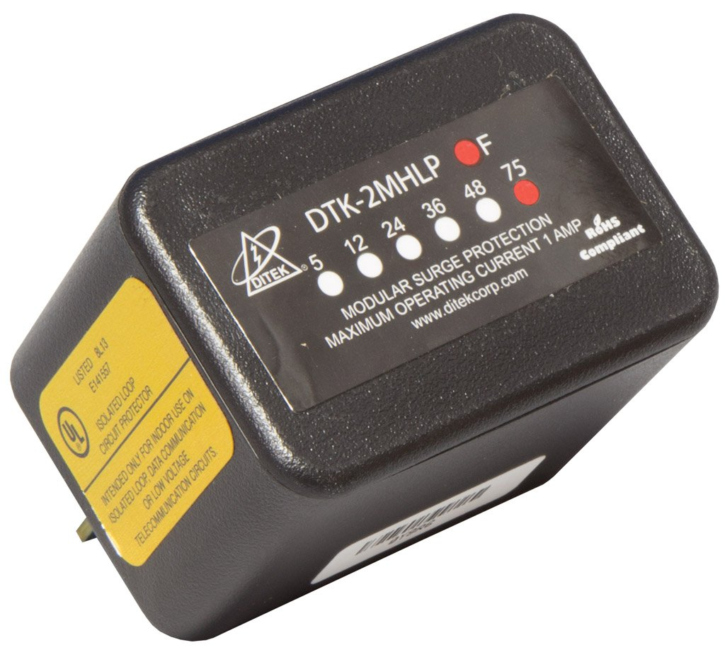 DTK-2MHLP75F DITEK 2PR 75V MODULAR ALARM SURGE PROTECTOR ************************* SPECIAL ORDER ITEM NO RETURNS OR SUBJECT TO RESTOCK FEE *************************