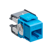 LEV6110G-RL6 LEVITON CAT6A JACK EXTREME C6A CHANNEL-RATED QUICKPORT CONNECTOR BLUE ************************* CLEARANCE ITEN-NO RETURNS *************************