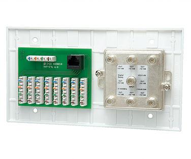 70-0078 DATACOMM 4-GANG 4 X 8 110 PHONE & 1 X 6 SPLITTER W/ TESTER