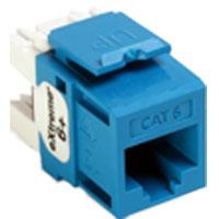 LEV61110-BL6 LEVITON JACK CAT 6 BLUE BULK 25 PCS