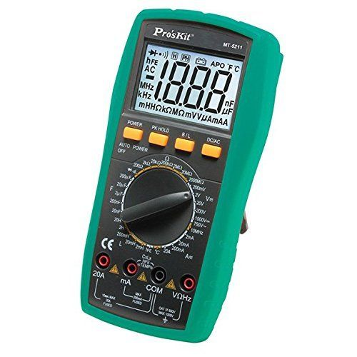 MT-5211 ECLIPSE 3 1/2 DIGITAL LCR MULTIMETER AC/DC VOLTS, CURRENT, RESISTANCE, FREQUENCY, TEMPERATURE, CONTINUITY, DIODE AND TRANSISTOR ************************** CLEARANCE ITEM- NO RETURNS *****ALL SALES FINAL****** **************************