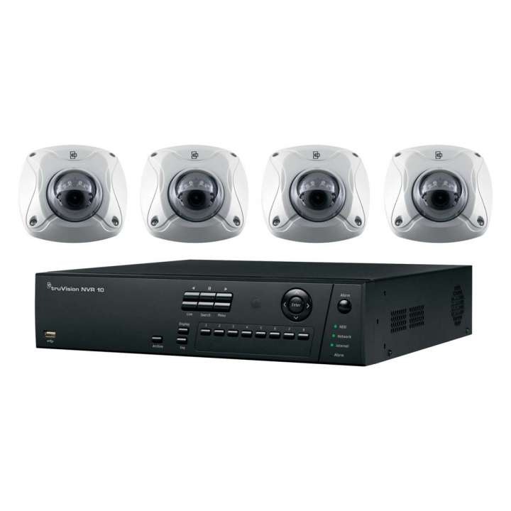 TVN-1008-KW4 INTERLOGIX HD PLUG-AND-PLAY POE SURVEILLANCE BUNDLE. CONTAINS 1- 8-CHANNEL REAL-TIME 8-POE PORT HD NVR WITH 2TB AND 4 INDOOR-OUTDOOR HD 2 MPXL IR WEDGE CAMERAS ************************* SPECIAL ORDER ITEM NO RETURNS OR SUBJECT TO RESTOCK FEE *************************