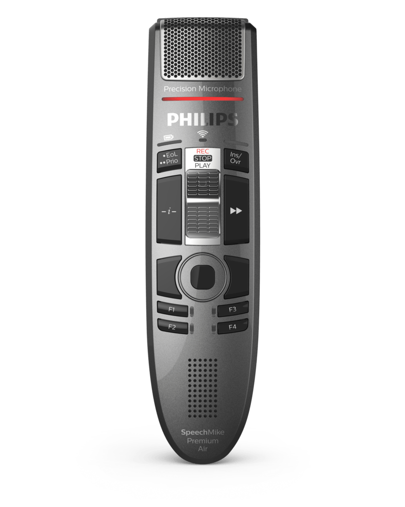 PSP-SMP4010/00 PHILIPS SPEECMIKE PREMIUM AIR SLIDER (INT) - WIRELESS SLIDE CONTROL USB DICTATION MICROPHONE