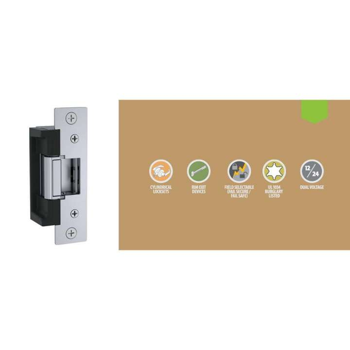 7501C-24-630 HES 7500C ELECTRIC STRIKE KIT 24VDC FAIL SAFE / SECURE SATIN STAINLESS STEEL ************************* SPECIAL ORDER ITEM NO RETURNS OR SUBJECT TO RESTOCK FEE *************************
