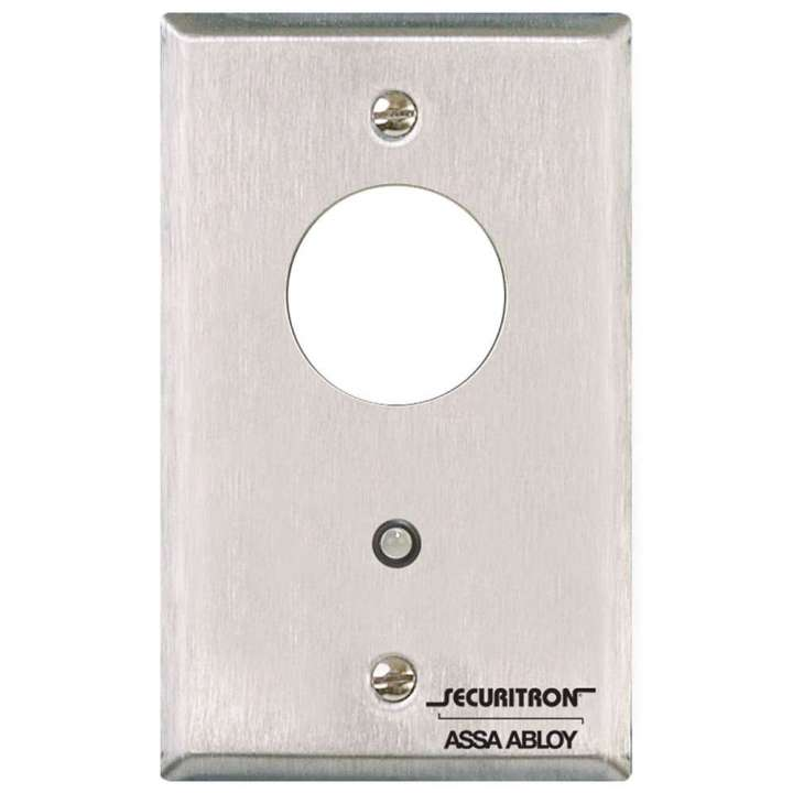 MK SECURITRON MOMENTARY WITHOUT CYLINDER ON SS PLATE ************************* SPECIAL ORDER ITEM NO RETURNS OR SUBJECT TO RESTOCK FEE *************************