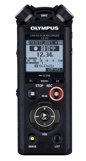 OLY-V409160BU000 OLYMPUS LS-P4 LINEAR PCM RECORDER BLK, TRESMIC, 8GB