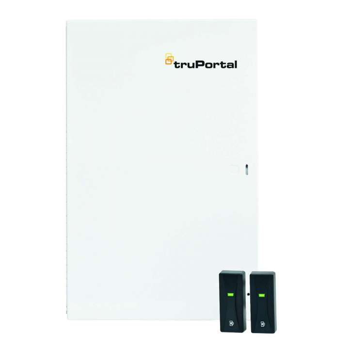 TP-SYS-2D2R-M UTC TruPortal System 2-Door/2 Reader Controller, Enclosure, Qty. 2, 3MIL-R11030 Mini Mullion Readers, Quick Start Guide