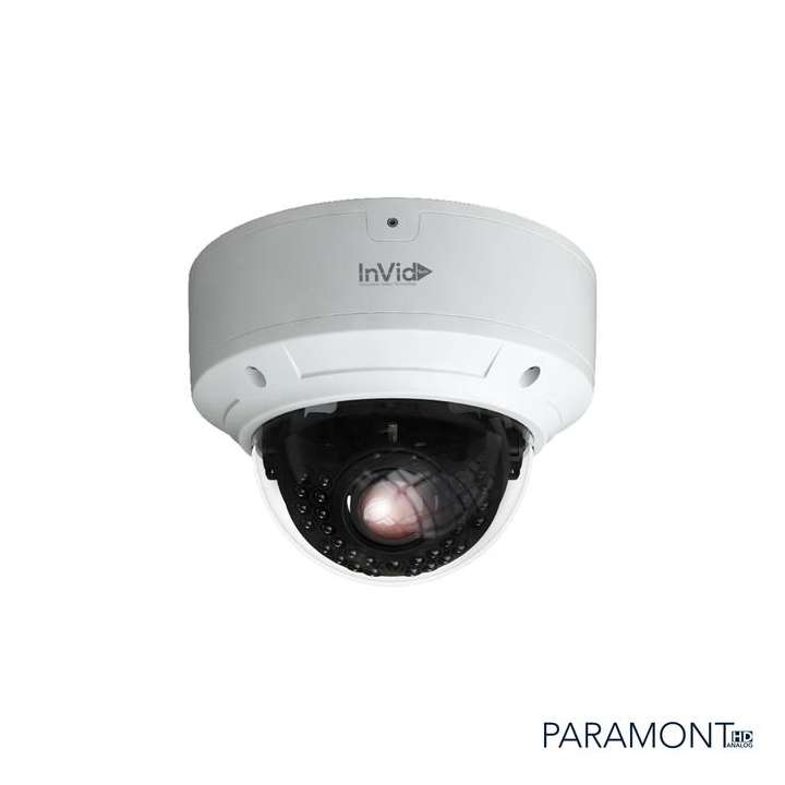 PAR-C4DRIR3312 INVID 4 Megapixel TVI/AHD, Outdoor Vandal Dome, 3.3-12mm, 98' IR Range, D-WDR, 12VDC, White Housing