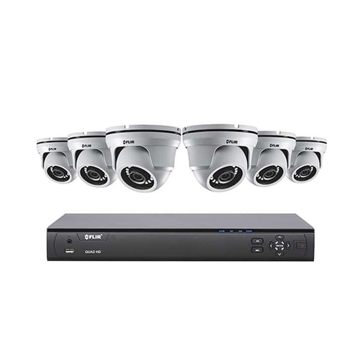 M5108364 FLIR MPX QUAD HD multiformat recorder 8ch 4MP 15fps1080p/720p/960H 30fps 6-4MP EB Dome cams IP66 3TB HDD Flir Cloud VMS