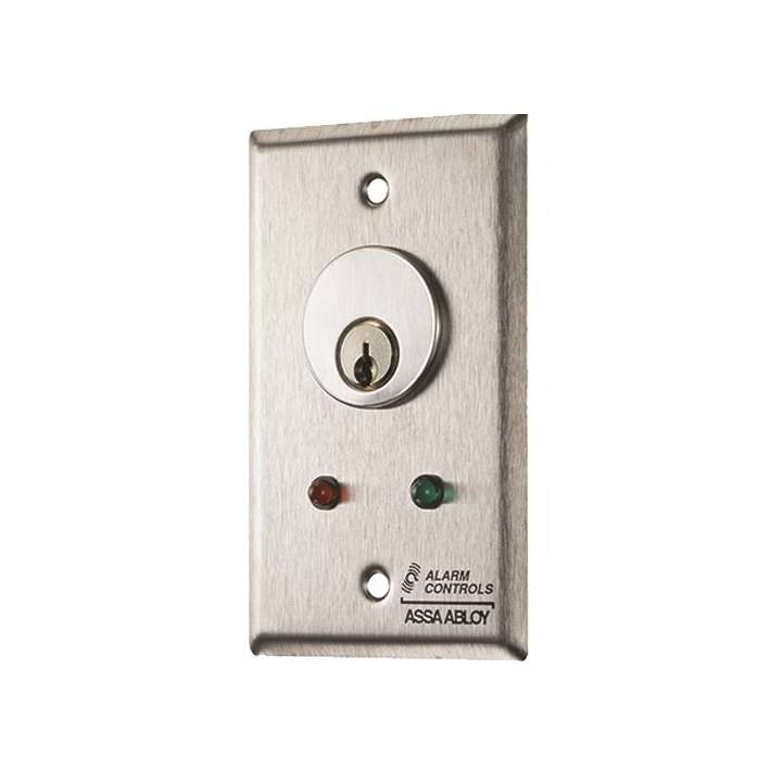 MCK-6 ALARM CONTROLS KEYSWITCH PLATE WITH LED ************************* SPECIAL ORDER ITEM NO RETURNS OR SUBJECT TO RESTOCK FEE *************************