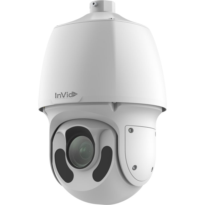 VIS-P2PTZXIR30 INVID 2 Megapixel IP, Outdoor PTZ, 30x, 492' EXIR Range, D-WDR, 2-Way Audio, SD Card Slot, PoE/24VAC, White Housing