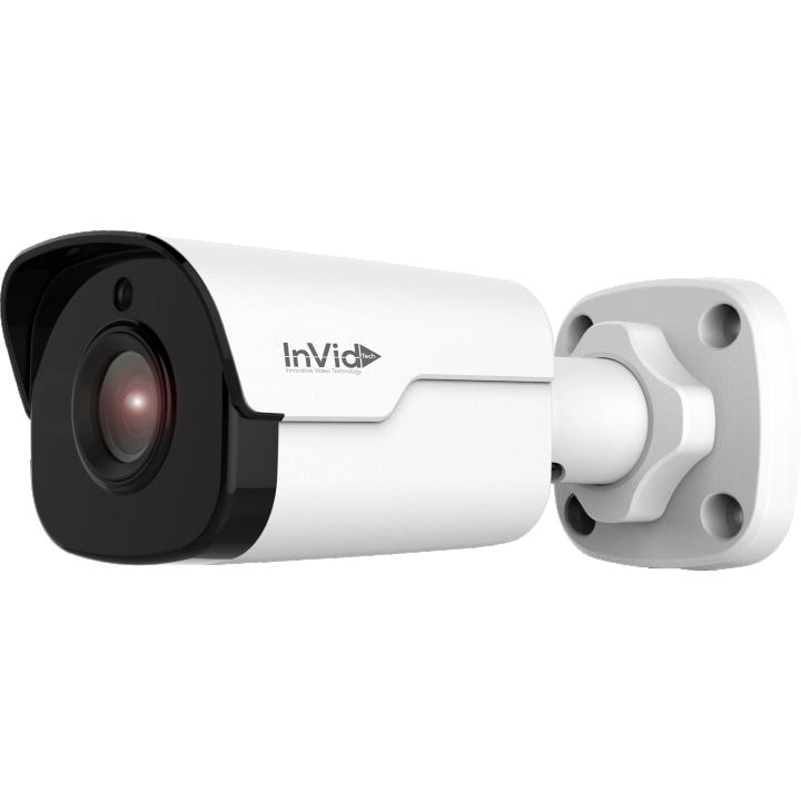 VIS-P4BXIR36 INVID 4 Megapixel IP Plug & Play, Outdoor Bullet, 3.6mm, 98' EXIR Range, PoE/DC12V, White Housing
