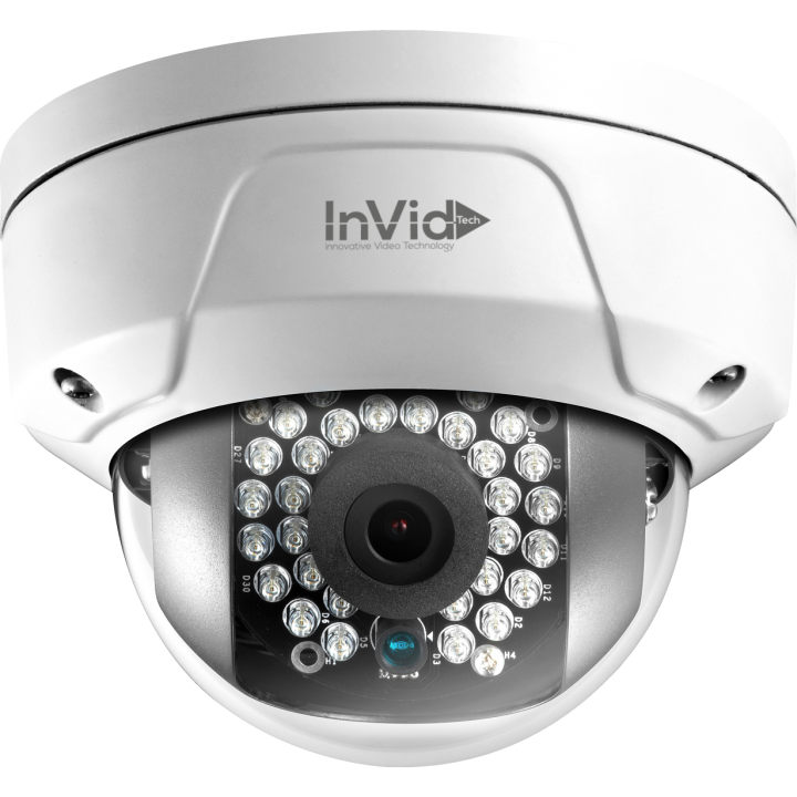ULT-P4DRIR4 INVID 4 Megapixel IP Plug & Play Mini Rugged Dome, 4mm, WDR, 100' IR Range, PoE/DC12V, SD Card Slot ************************* SPECIAL ORDER ITEM NO RETURNS OR SUBJECT TO RESTOCK FEE *************************