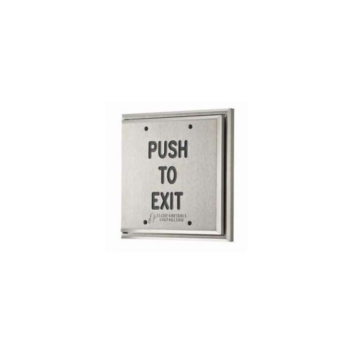 """PD2-111 ALARM CONTROLS DPDT MOMENTARY ACTION """"PUSH TO EXIT"""" BLACK FILL SATIN ALUMINUM DOUBLE GANG REQUEST TO EXIT BUTTON ************************* SPECIAL ORDER ITEM NO RETURNS OR SUBJECT TO RESTOCK FEE *************************"""