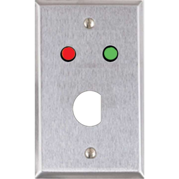 RP-4 ALARM CONTROLS REMOTE PLATE - D HOLE CUTOUT W/RED & GREEN LED'S ************************* SPECIAL ORDER ITEM NO RETURNS OR SUBJECT TO RESTOCK FEE *************************