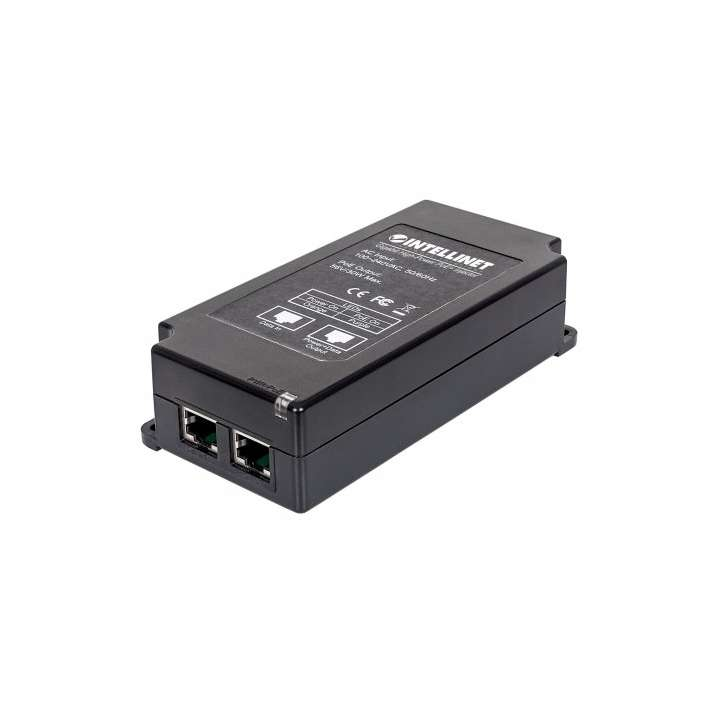 561037 INTELLINET 1-Port Gigabit High-Power PoE+ Injector, 30W, Plastic