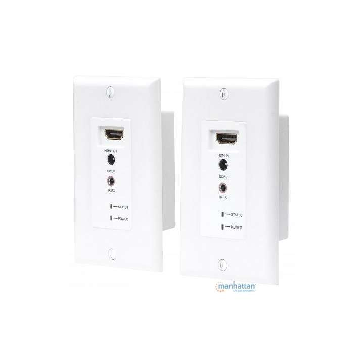 207607 INTELLINET HDMI OVER CAT5/6 WALL PLATE 200 FT RANGE ************************* SPECIAL ORDER ITEM NO RETURNS OR SUBJECT TO RESTOCK FEE *************************