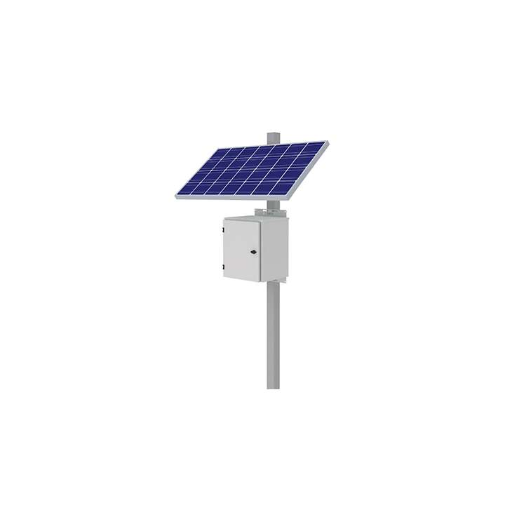 "KBC-AL2-200W KBC 200 Watt Advanced Remote Power Kit-Lithium compatible. Side panel mount for 3-6"" pole. Includes(2)100W solar panels. Maximum 7-27 continuous watts depending on geographic location. NEMA 4X powder-coated aluminum enclosure with space for (4) 120Ah equivalent LiFePo4 or (2) 100Ah SLA batteries, Batteries and pole not included ************************* SPECIAL ORDER ITEM NO RETURNS OR SUBJECT TO RESTOCK FEE *************************"