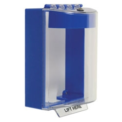 STI-13220NB UNIVERSAL STOPPER COVER, SURFACE MOUNT WITH HORN, NO LABELING, BLUE ************************* SPECIAL ORDER ITEM NO RETURNS OR SUBJECT TO RESTOCK FEE *************************