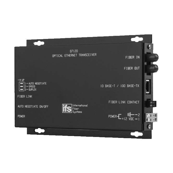 D7120WDMA UTC 10/100 Ethernet Transceiver MM Laser 1 Fiber A End