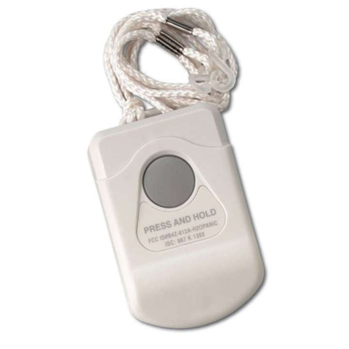 NX-475 UTC WATER-RESISTANT PENDANT PANIC SENSOR. ALLOWS A PERSON TO WEAR A SENSOR THAT CAN ACTIVATE A PANIC ALARM. CAN BE WORN AROUND NECK OR CAN BE CLIPPED TO A BELT OR PURSE. RECESSED PANIC BUTTON PREVENTS FALSE ALARMS ************************* SPECIAL ORDER ITEM NO RETURNS OR SUBJECT TO RESTOCK FEE *************************