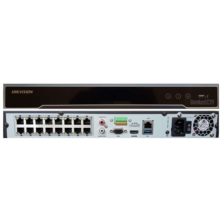 DS-7616NI-I2/16P HIKVISION 16CH NVR 16 PORT POE UP TO 12MP 2SATA CAPABLE NO HARD DRIVE