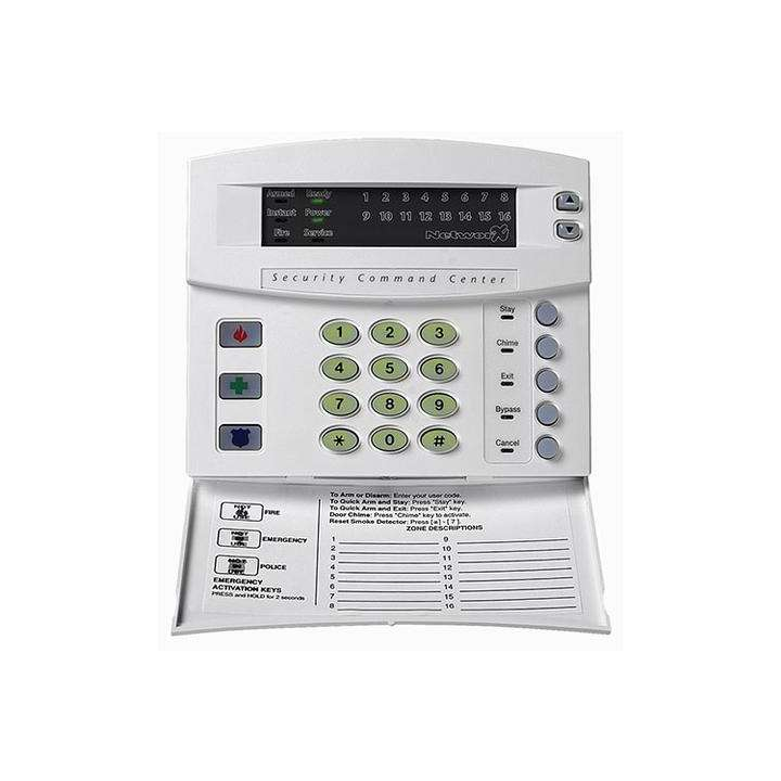 "NX-1324E UTC 24-ZONE LED KEYPAD W/DOOR TRADITIONAL DESIGN. 6.2"" W X 5.3"" H X 1.3"" D. SWING-DOWN REMOVABLE DOOR CONCEALS CONTROLS, WHITE ************************* SPECIAL ORDER ITEM NO RETURNS OR SUBJECT TO RESTOCK FEE *************************r"