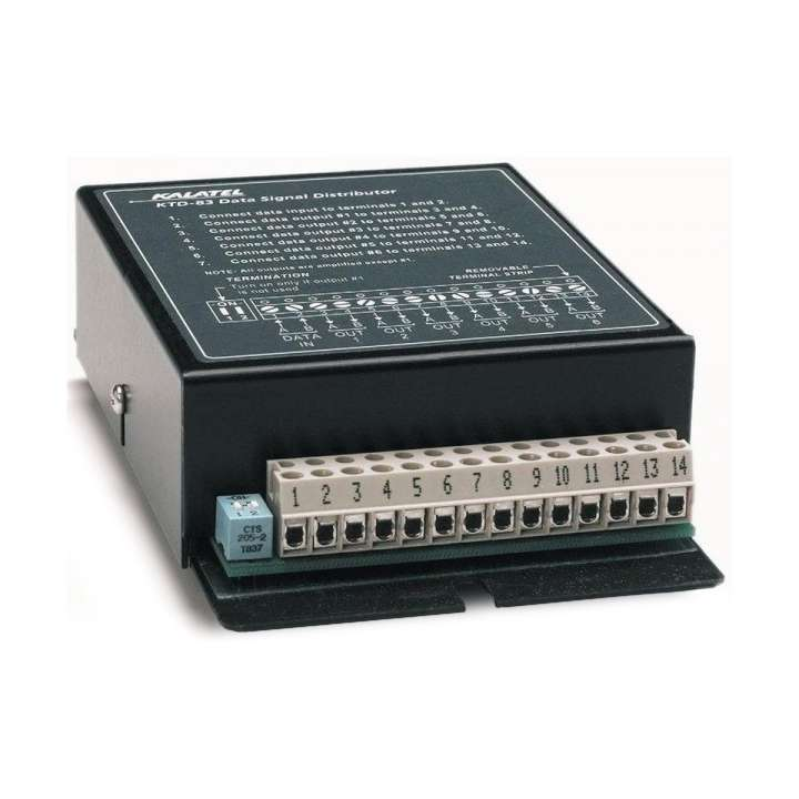 KTD-83 UTC RS422 DATA SIGNAL DISTRIBUTOR, PROVIDES 6 SEPARATE RS422 OUTPUTS FROM SINGLE INPUT ************************* SPECIAL ORDER ITEM NO RETURNS OR SUBJECT TO RESTOCK FEE *************************