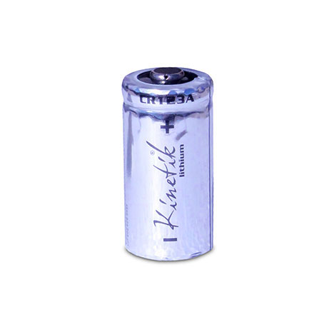 30232 UPG KIN-CR123A-BULK Kinetik CR123 Lithium 3V Bulk Cylindrical Battery, individually wrapped, priced each sold in lots of 50