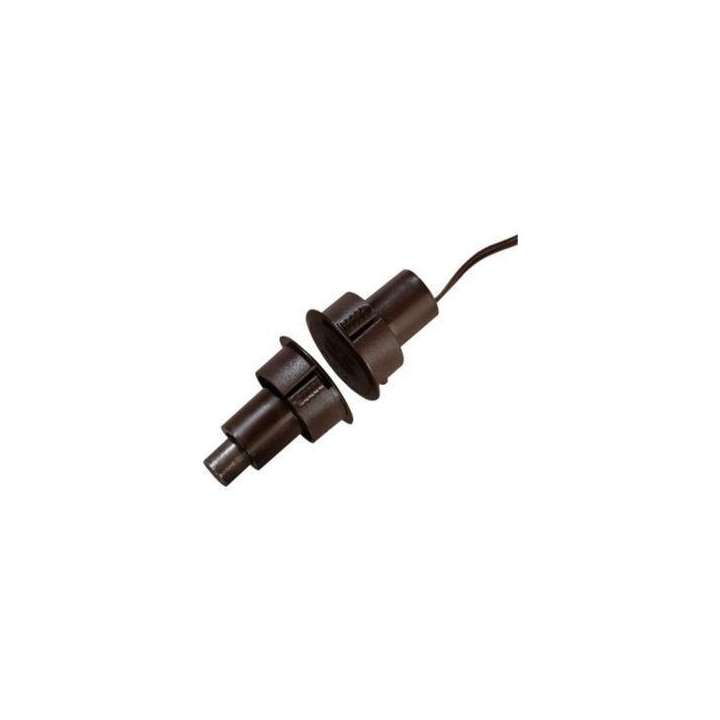 1076-M UTC Recessed Steel Door Contact w/Wire Leads 1in Diameter SPDT Brown 1/2in Gap Size. Single Pole-Double Throw ************************* SPECIAL ORDER ITEM NO RETURNS OR SUBJECT TO RESTOCK FEE *************************