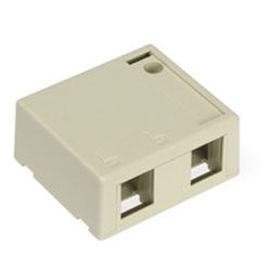 LEV4S089-2IP LEVITON 2-PORT QUICKPORT HOUSING FOR SHIELDED CONNS SURFACE MOUNT IVORY ************************* CLEARANCE ITEM-NO RETURNS *************************