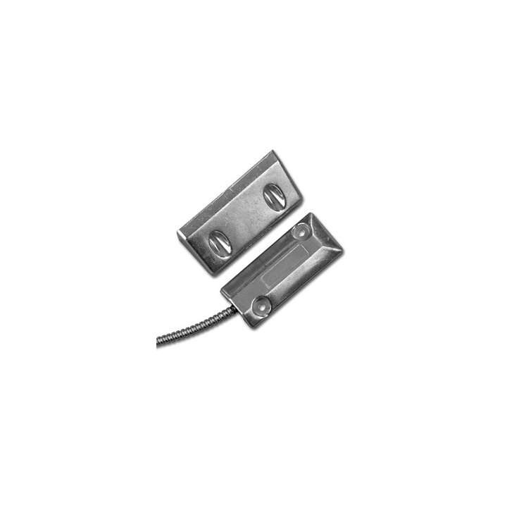 2204A-L UTC Overhead Door Floor Mount Contact w/Aluminum Housing SPDT 3in Gap Size. Single Pole-Double Throw. 18in Stainless Steel Armored Cable
