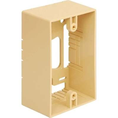 IC107MRSIV ICC SINGLE GANG MOUNTING BOX IVORY