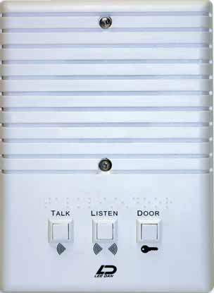 IR-204E LEEDAN SURFACE MOUNT APARTMENT INTERCOM STATION WHITE PLASTIC ************************* SPECIAL ORDER ITEM NO RETURNS OR SUBJECT TO RESTOCK FEE *************************