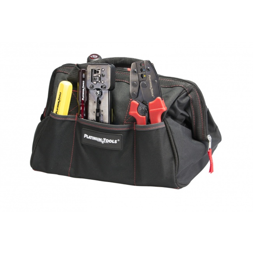 """4006 PLATINUM TOOLS Big Mouth Canvas Tool Bag, 12.75""""x8.75""""x8"""" ************************* SPECIAL ORDER ITEM NO RETURNS OR SUBJECT TO RESTOCK FEE *************************"""