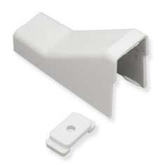 "ICRW13CEWH ICC RACEWAY 1 3/4"" CEILING ENTRY & MOUNTING CLIP, WHITE"