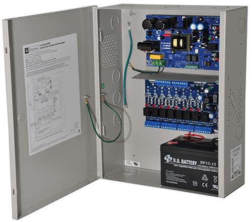 "AL1012ULACMCB ALTRONIX POWER SUPPLY/CHARGE WITH ACCESS POWER CONTROL- 8 PTC CLASS 2 POWER LIMITED OUTPUTS PROVIDE 12VDC @ 10 AMPS, OUTPUTS ARE INDIVIDUALLY SELECTABLE FOR FAIL-SAFE OR FAIL-SECURE OPERATION, FIRE ALARM DISCONNECT IS SELECTABLE BY OUTPU, AC & BATTERY MONITORING. ENCL. 15.5""H x 12""W x 4.5""D, 115VAC INPUT, UL LISTED ************************* SPECIAL ORDER ITEM NO RETURNS OR SUBJECT TO RESTOCK FEE *************************"