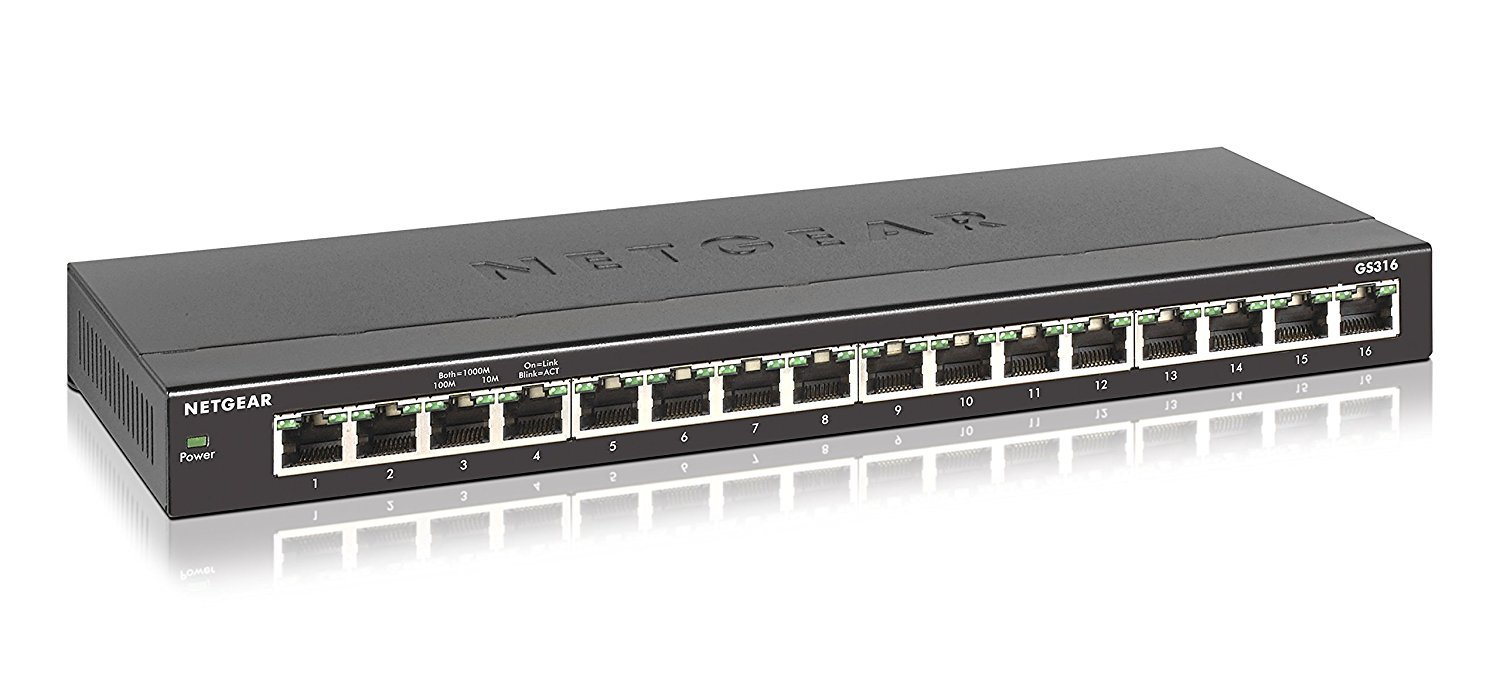 GS316-100NAS NETGEAR 16PT GE UNMANAGED SWITCH SOHO