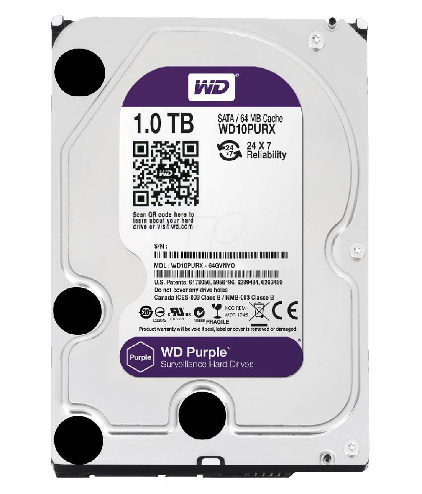 WD10PURZGUARD WESTERN DIGITAL 1TB AV GRADE HDD PURPLE USA 5 YEAR WARRANTY FOR GUARDIAN SEC. ************************* SPECIAL ORDER ITEM NO RETURNS OR SUBJECT TO RESTOCK FEE *************************
