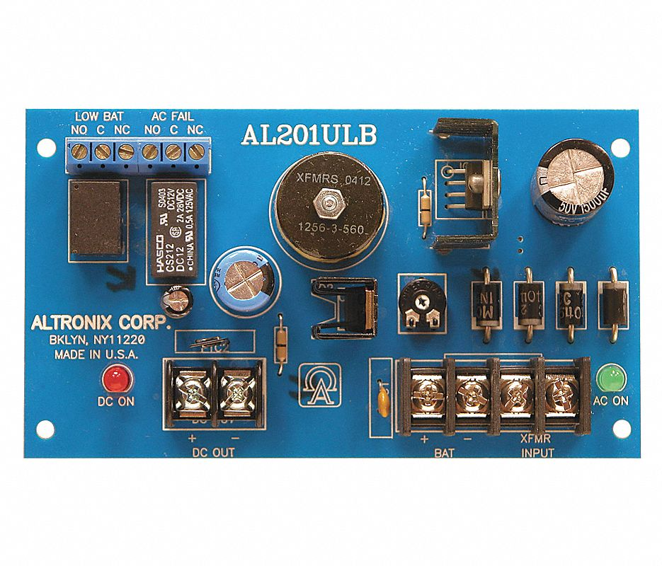 AL201ULB ALTRONIX 12VDC OR 24VDC @ 1.75 AMP, AC AND BATTERY MONITORING UL RECOGNIZED COMPONENET ************************* SPECIAL ORDER ITEM NO RETURNS OR SUBJECT TO RESTOCK FEE *************************