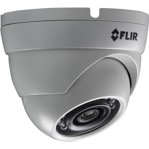 P143E4 FLIR Mini Eyeball Dome, 4MP, 4MP@20fps, 2.8mm, IR LED's, POE / 12V, triple streaming, H.265