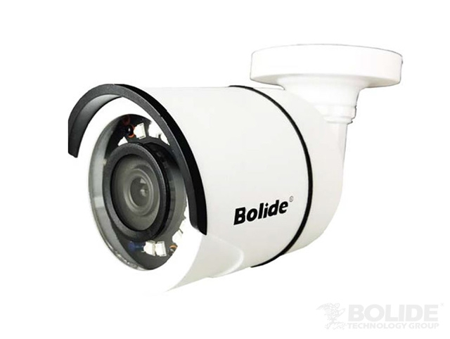 BC1235AHP BOLIDE 1080P AHD / TVI / CVI / Analog / 720P Hybrid 3.6mm Fixed Lens IP66 IR Bullet Camera 12VDC, White