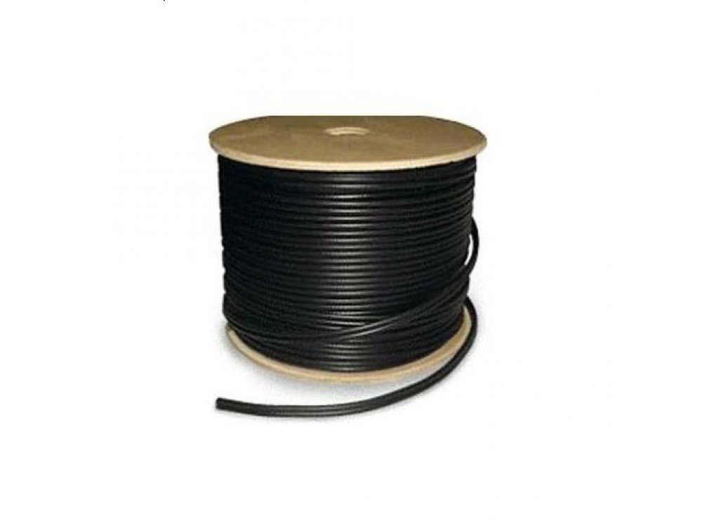 06C59182-S1-0 ALLSTAR RG59 & 18/2 SIAMESE OUTDOOR BLACK 1000' SPOOL