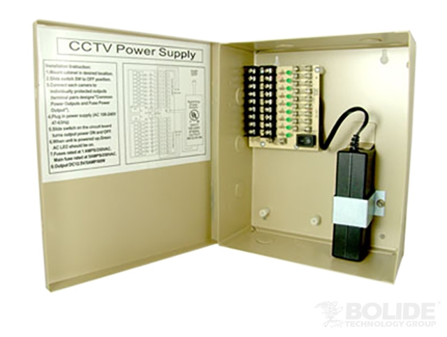 BP0050/9-5PTC BOLIDE 12VDC 9 Output 5 Amp Power Supply, PTC Protected ************************* SPECIAL ORDER ITEM NO RETURNS OR SUBJECT TO RESTOCK FEE *************************