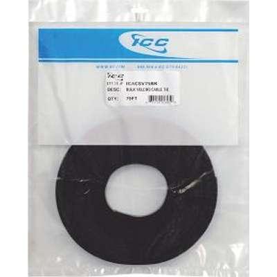 ICACSV75BK ICC BULK VELCRO CABLE TIE 75' ROLL BLACK