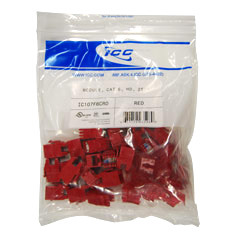 IC107F6CRD ICC MODULE, CAT 6, HD, 25PK, RED ************************* SPECIAL ORDER ITEM NO RETURNS OR SUBJECT TO RESTOCK FEE *************************