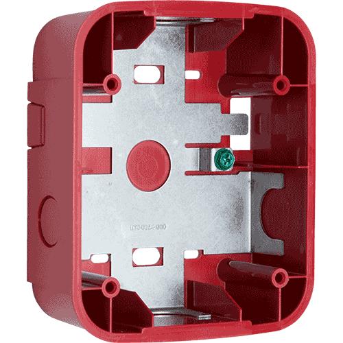 SBBRL SYSTEM SENSOR Wall Surface Mount Back Box, Red