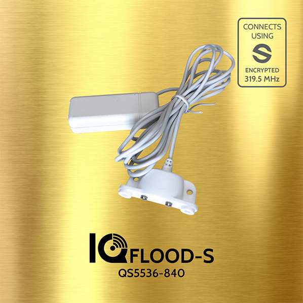 QS5536-840 QOLSYS IQ Flood S - Encrypted. Detects water. Includes 6' water dongle.
