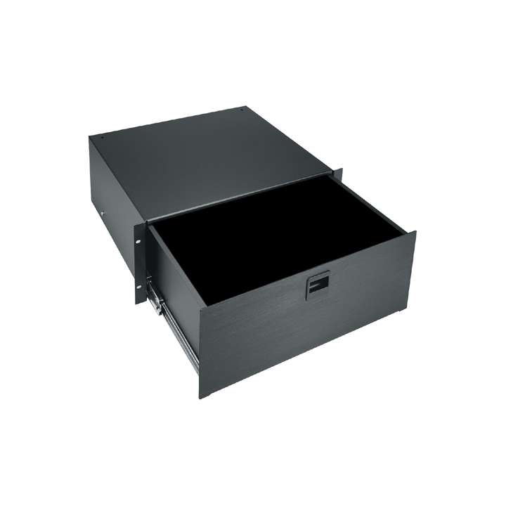 D4LK MIDATL 4 SPACE (7) RACK DRAWER, BLACK BRUSHED FINISH, WITH KEYLOCK ************************* SPECIAL ORDER ITEM NO RETURNS OR SUBJECT TO RESTOCK FEE *************************